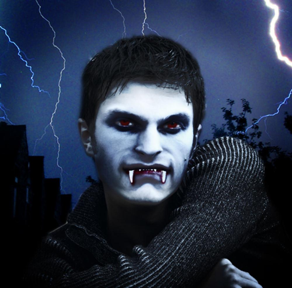 Как сделать вампира из себя в фотошопе 72