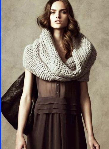Вязать спицами шарф труба схема и фото. как связать снуд спицами.