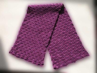 как связать крючком шарф труба. трубы схема вязания шарфа капюшона.