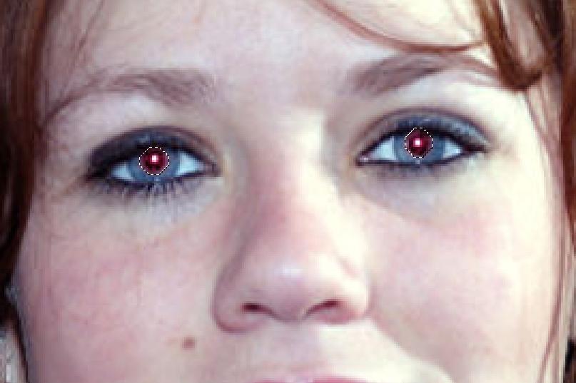 Как сделать эффект красных глаз фото 390