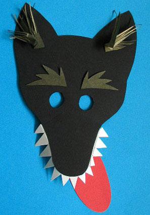 Шапка-маска для костюма волка