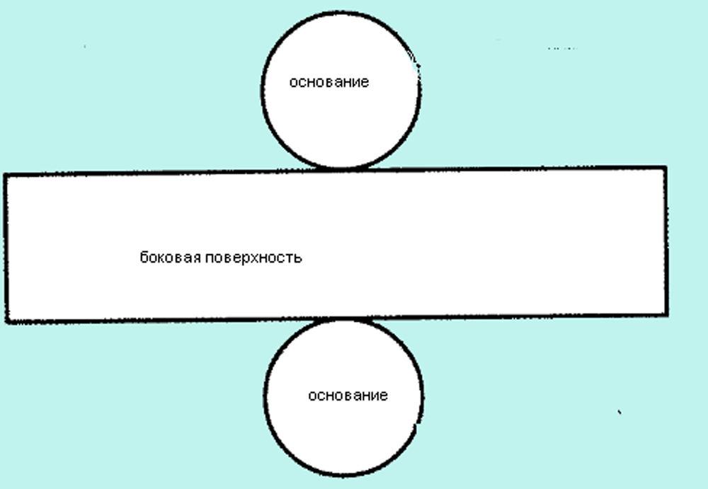 Фигура цилиндр своими руками