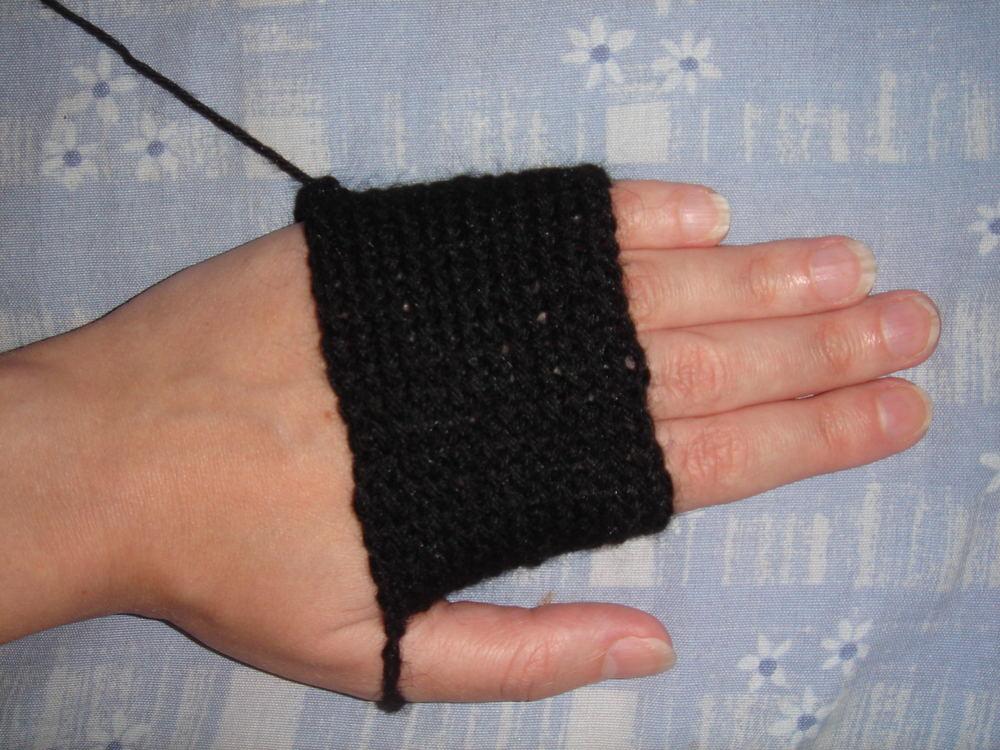 Вязание крючком варежек без пальцев 98