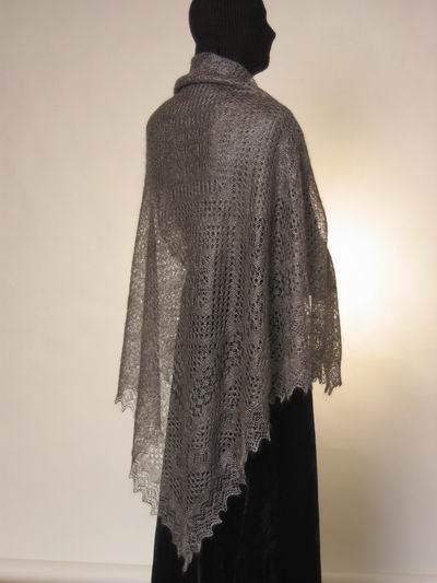 схемы вязания пуховой косынки спицами.