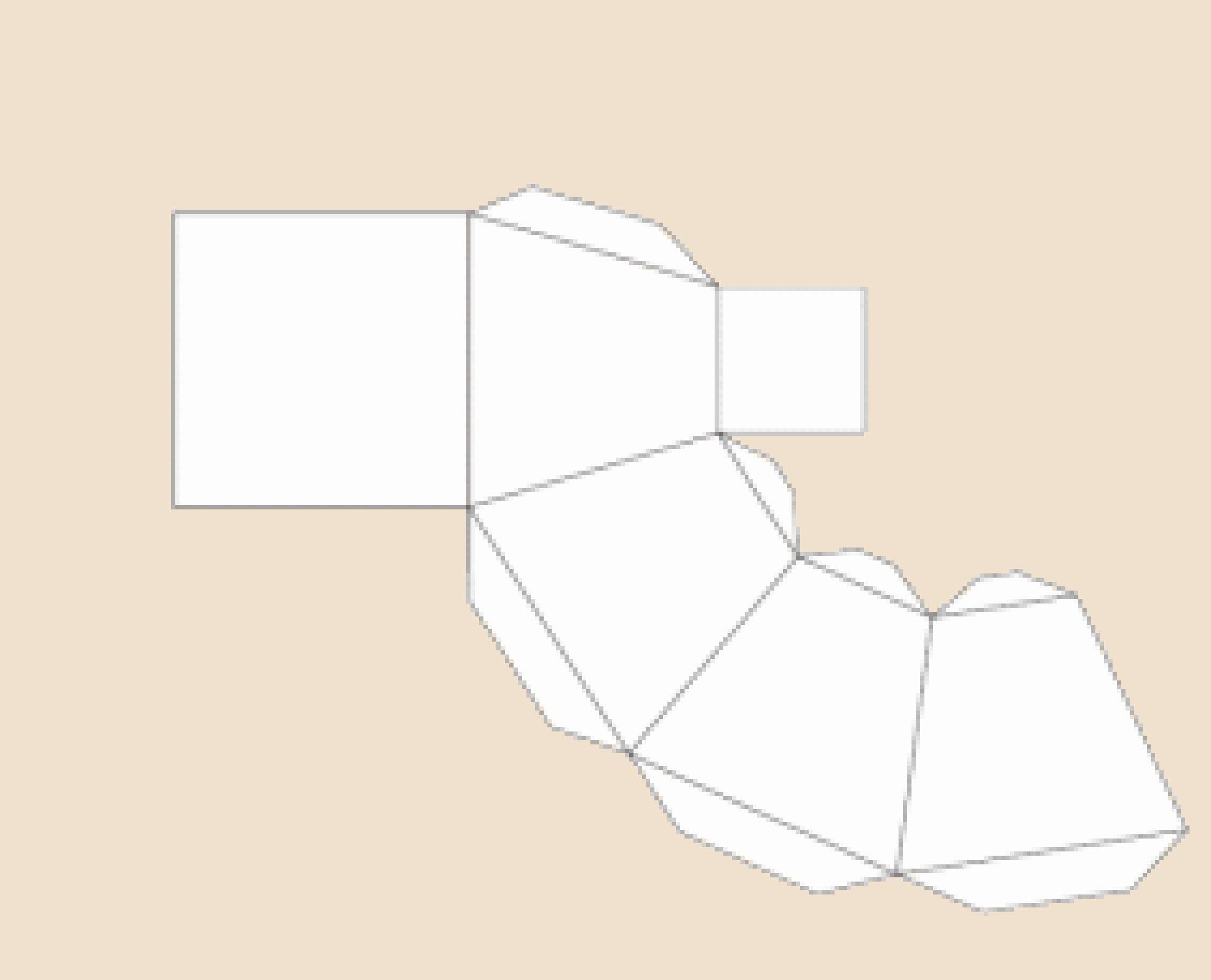 Как сделать усеченную пирамиду развертка