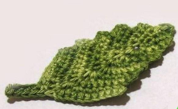 листиков спицами схема осинки вязание
