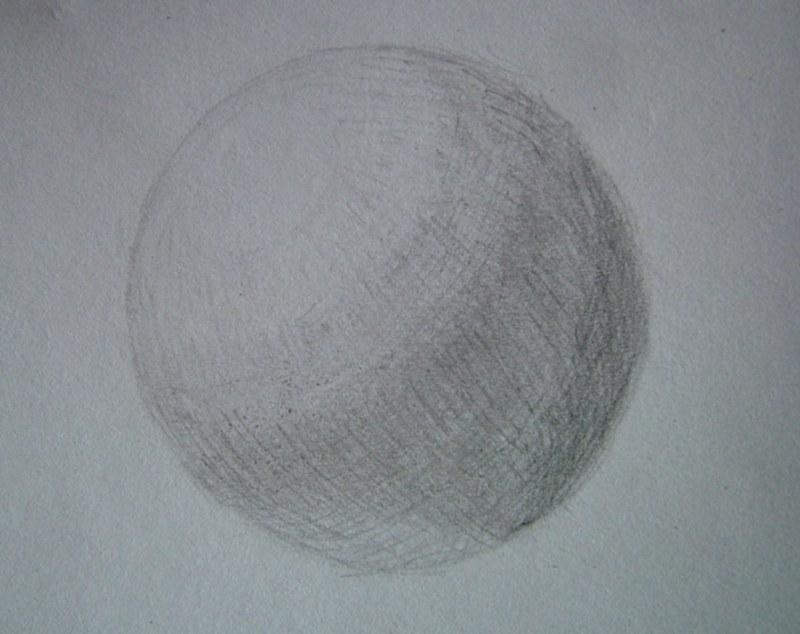 Как нарисовать шар карандашом