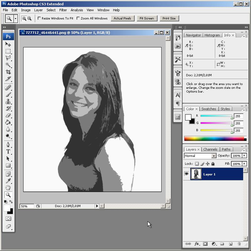 Как сделать трафарет из картинки в фотошоп