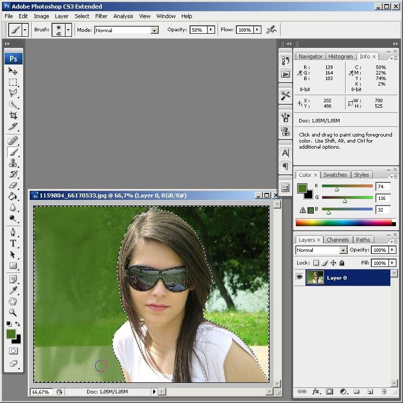 Как в фотошопе онлайн сделать другой фон на фотографии в фотошопе