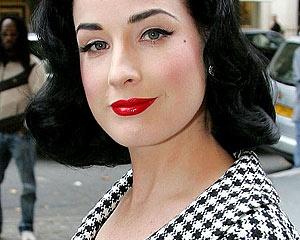 макияж в стиле диты фон тиз