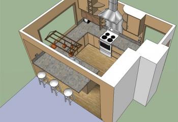 Удачная обстановка для маленькой кухни