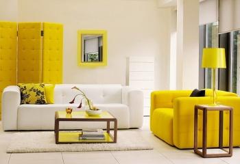 Лимонно-желтый интерьер: больше позитива!