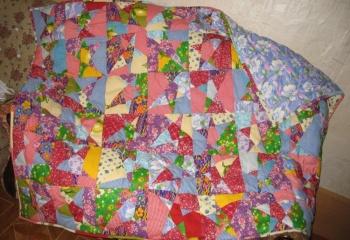 Пэчворк-одеяло своими руками