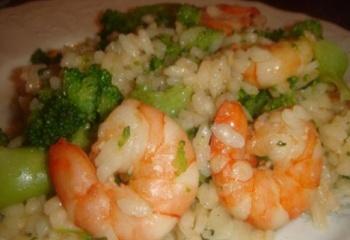 Как приготовить креветки с рисом