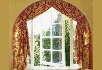 Как сделать арочные шторы