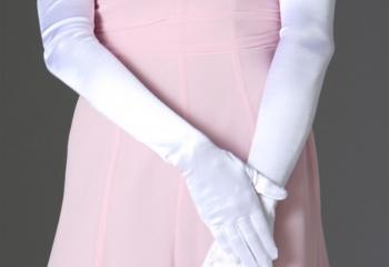 Короткий рукав и длинные перчатки