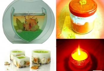 Декоративные ароматические свечи своими руками