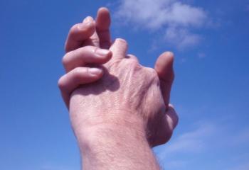 Руки мужчины и его перспективы