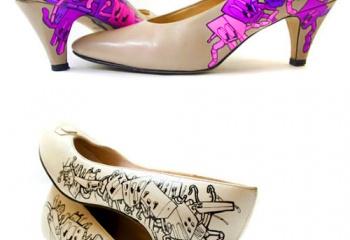 Туфли, расписанные вручную