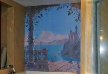 Роспись стен в ванной комнате. Задумки дизайнеров
