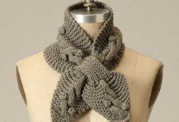 Модный шарфик за полчаса
