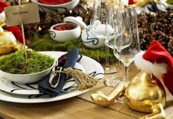 Оформление новогоднего стола по-европейски