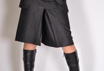 Соединяем юбку и шорты