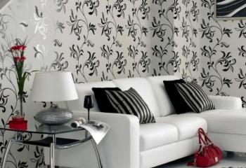 Дизайн интерьеров в черно-белых тонах