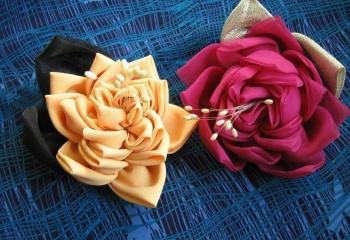 Цветы из ткани для предметов интерьера