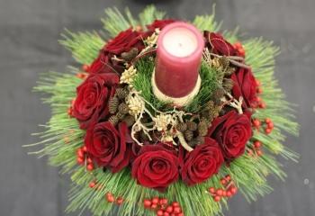 Новогодние цветочные композиции своими руками