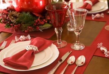 Праздничная сервировка новогоднего стола