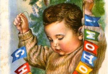 Старинные новогодние открытки своими руками