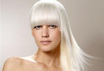 фото цвет волос белый