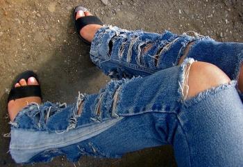 Как сузить джинсы    JustLady.ru - территория женских разговоров c1ad39f7da6