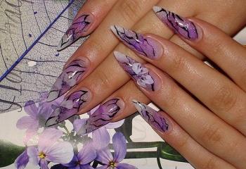Как рисовать узоры на ногтях