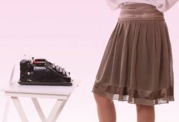 Как сшить юбку на кокетке
