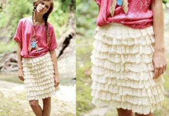 С чем носят многоярусные юбки