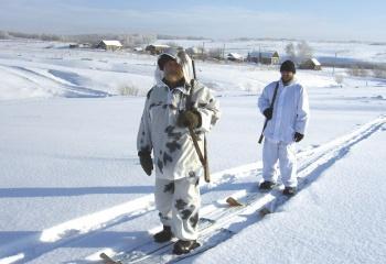 Как установить крепления на охотничьи лыжи