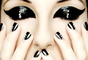 Как накрасить глаза, как у эмо