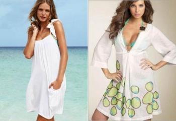 Пляжные платья: принты, кружева и асимметрия