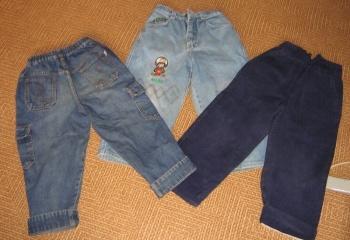 Как из старых джинсов сделать джинсы ребенку 54