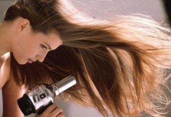 как высушить волосы феном чтобы был объем