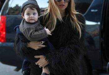 Рэйчел Зое и ее сын Скайлер