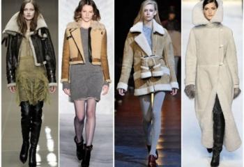 Дубленки женские 2013-2014: модные модели