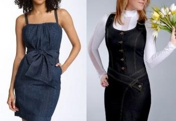 Сшить своими руками джинсовый сарафан женский