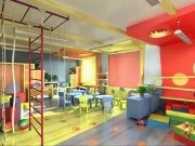 Зал в детском саду раскраска стен в