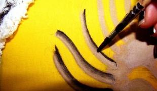 Как рисовать акрилом