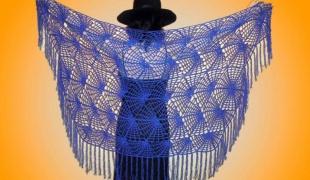 Вязание паутинка спица